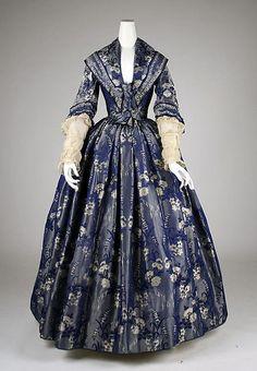 Wedding Dress. ca. 1860. American. silk and cotton.