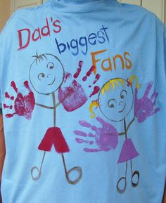 Dad's TShirt Biggest Fans Hand Painted by roseartworks on Etsy. $30.00, via Etsy.