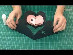 Čierno - ružová pohľadnica so srdiečkom - VIDEO Ako sa to robí.sk