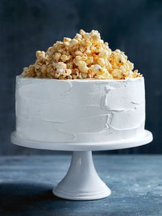 milk chocolate layer cake with caramel popcorn from donna hay spring issue 83