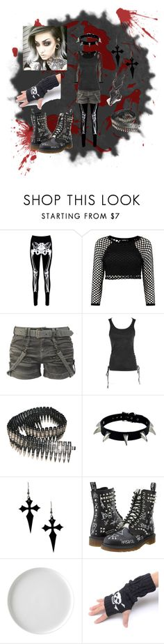 """who cares"" by solluxcapter ❤ liked on Polyvore featuring Boohoo, Bullet, Dr. Martens and LAS Jewelry"