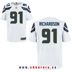Men's Seattle Seahawks #91 Sheldon Richardson White Road Stitched NFL Nike Elite Jersey