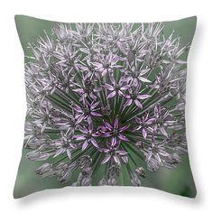 """Starburst Allium 2 Throw Pillow 14"""" x 14"""""""
