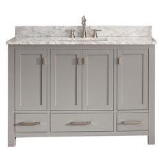 avanity modero chilled gray undermount single sink poplar bathroom vanity with natural marble top common