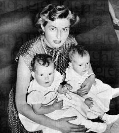 Ingrid Bergman with daughters Isabella and twin Isotta Ingrid Rossellini