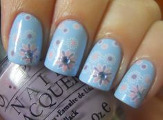 Pastel Flower Nails