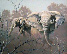 Elephant Images, Elephant Love, Elephant Art, African Forest Elephant, Black Art Pictures, Animal Graphic, South African Artists, African American Art, African Animals