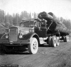 1954 W128 White Log Truck