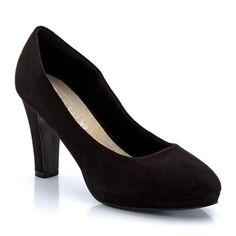 Suedette Platform Court Shoe TAILLISSIME
