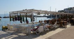 Restaurant loungers by the water, Akyarlar