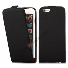Ultra Slim Leather Top Flip Case for 4.7 iPhone 6 - Black US$8.69