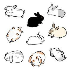 doodle rabbit \ doodle rabbit + doodle rabbit bunnies + doodle rabbit how to draw Cute Animal Drawings, Animal Sketches, Kawaii Drawings, Cartoon Drawings, Cute Drawings, Art Sketches, Doodles Kawaii, Cute Doodles, Kawaii Art