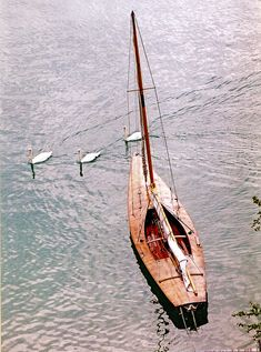 Beautiful wooden sailboat