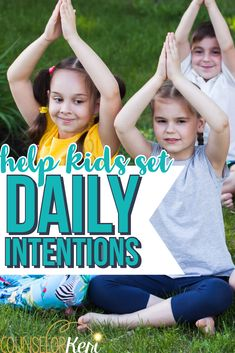 Want to help kids set intentions but aren't sure where to start? Read this to get a conversational guide for helping kids begin each day mindfully! Kindness Activities, Counseling Activities, Group Counseling, Mindfulness Activities, Feelings Activities, Elementary School Counseling, School Counselor, Elementary Schools, Guidance Lessons