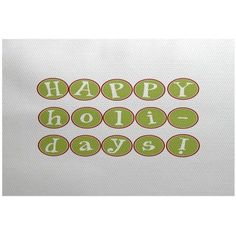 Simply Daisy 3' x 5' Happy Holidays Too Word Print Indoor Rug, Green