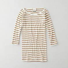 STRIPED BOATNECK 3/4 TEE made in the USA