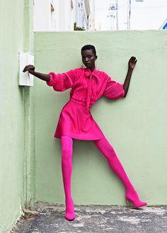 Colorful Fashion Photography by Elena Iv-skaya for Lucy's Magazine Bo Kaap - fashion photography by Elena Iv-skaya for Lucy's Magazine Pink Fashion, Colorful Fashion, Fashion Beauty, Fashion Vintage, Fashion Men, Urban Fashion, Fashion Fashion, Retro Fashion, High Fashion Photography