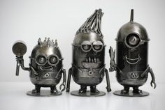 Minion small Despicable Me Scrap Metal por Metalmodelhouse en Etsy
