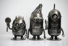 Minion small Despicable Me Scrap Metal por Metalmodelhouse en Etsy