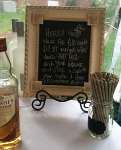 Rustic Dinner Party: Welcome Your Guest With A Signature Cocktail Served In A Mason Jar With Chalkboard Paint.