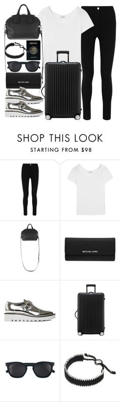 """""""Style #11156"""" by vany-alvarado ❤ liked on Polyvore featuring Givenchy, Yves Saint Laurent, MICHAEL Michael Kors, STELLA McCARTNEY, Rimowa, Passport and Links of London"""
