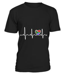 # South Africa Country Flag Heartbeat Pride T-Shirt .  South Africa Country Flag Heartbeat Pride T-Shirt  HOW TO ORDER: 1. Select the style and color you want: 2. Click Reserve it now 3. Select size and quantity 4. Enter shipping and billing information 5. Done! Simple as that! TIPS: Buy 2 or more to save shipping cost!  This is printable if you purchase only one piece. so dont worry, you will get yours.  Guaranteed safe and secure checkout via: Paypal | VISA | MASTERCARD