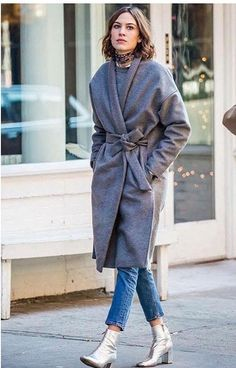 Alexa Chung in Chelsea Coat by Totême http://www.toteme-nyc.com/shop/aw15/chelsea-coat