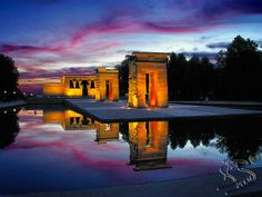 El Atardecer del Templo de Debod en Madrid