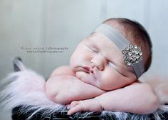 BEJEWELED Headband..Silver Gray Baby by whisperbugboutique on Etsy, $12.50