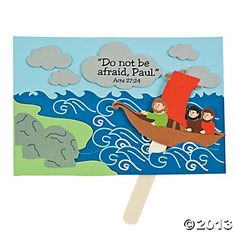 Paul Trusts God Sign Craft Kit, duplicate w/ construction paper