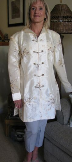 Silk embroidered Happy Coat!
