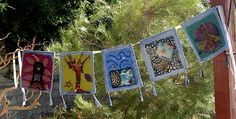 Beautiful prayer flags! Will make them for my little ones christening