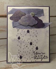Purple Rain | Stampin' Up! | Sparkle & Shine | Watercolor Wishes Card Kit | #literallymyjoy #purplerain #prince #rain #purple #sympathy #sparkle #shine #2016OccasionsCatalog #treebuilderpunch #watercolor
