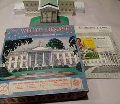 Vintage Marx The White House Plastic Model Kit by retrogal415