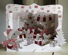 Scrapcard girls: 52 weeks to christmas week 14 reminder challenge: kerstcadeaupapier of cadeautjes op je kaart Christmas Pops, Christmas Cards, 52 Weeks, Exploding Boxes, Marianne Design, Pop Up Cards, Three Dimensional, 3 D, Challenges
