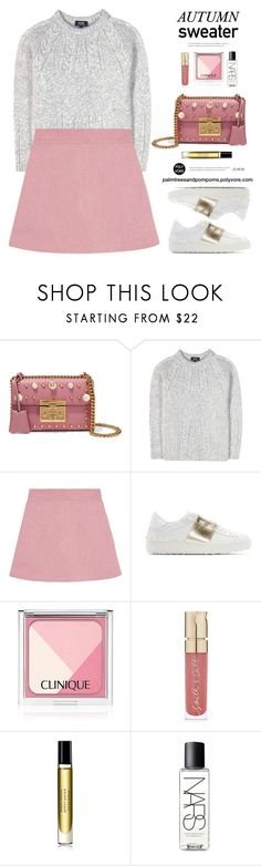 """Cozy Autumn Fall Sweaters / A.P.C. Alpaca, Cotton and Merino Sweater"" by palmtreesandpompoms ❤ liked on Polyvore featuring Gucci, A.P.C., Valentino, Smith & Cult, Byredo, NARS Cosmetics and fallsweaters"