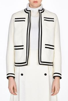 Carmen Pvc Trim Cardigan Jacket