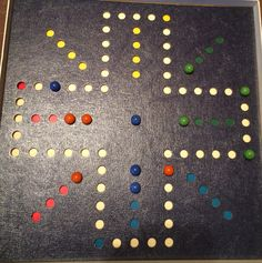a homemade aggravation board | Games | Pinterest | Aggravation board ...