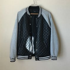 Forever 21 faux leather quilted letter man jacket Forever 21 faux leather quilted letter man jacket Forever 21 Jackets & Coats Utility Jackets