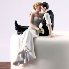 """The Look of Love"" Bride and Groom Couple Figurine - THINGS FESTIVE"