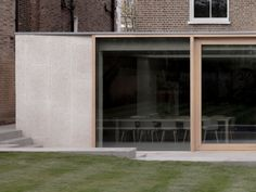 Dartmouth Park House is a minimalist extension located in London, United Kingdom, designed by Architecture for London Concrete Facade, Concrete Architecture, Stone Facade, Space Architecture, Architect Design House, House Design, Dartmouth Park, House Extension Plans, Extension Ideas