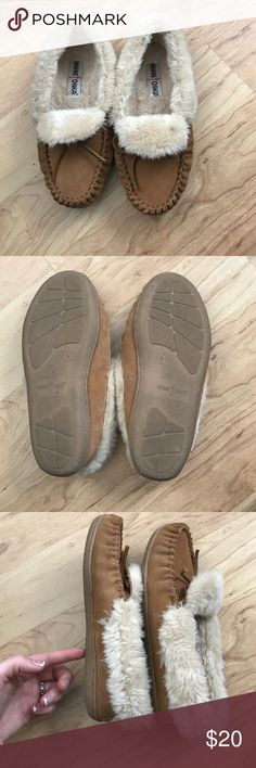 Minnetonka moccasins Worn a handful of times in great condition! Minnetonka Shoes