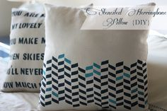 pillow tutorial - stenciled pillows from two delighted