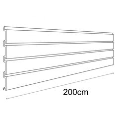 These Slatwall Panels are perfect for use in garages or in the home - wherever you need to maximise your storage.  Material: White PVC The slatwall panel has the following dimensions: Height - 31cm : Width - 200cm Fixing Method: Wall Fixing
