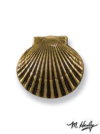 Scallop Doorbell Ringer in Brass  Doorbell Ringer  Unique Doorbell Ringers by Michael Healy