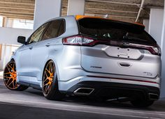 In 2015 Ford asked Aaron Vaccar to add his personal design touches to a 2015 Ford Edge Sport AWD EcoBoost for the 2015 SEMA Show Ford Edge Suv, Hot Cars, Custom Cars, Cars And Motorcycles, Automobile, Boat, Trucks, Sports, Wheels