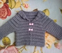 Inspiring picture baby, baby clothes, bows, cardigan, crochet, cute. Resolution: 570x414 px. Find the picture to your taste!