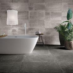 Tegels badkamer grijs, tegelstroken toilet, muurstrips, toilet ...