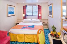 Once you have chosen which cruise to take, choosing the cabin that is right for you is the next step. Cabins can range from 5,000 sq ft villas to small 130 sq ft inside rooms. Amenities can range from jacuzzi tubs and butler service to private balconies that provide a quiet relaxing space for yo…