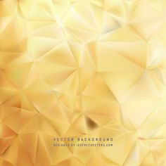 Gold Polygon Triangle Background #freevectors